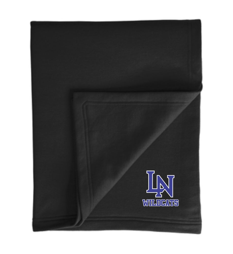 Image of Embroidered DryBlend® Premium Fleece Stadium Blanket - 2 color options