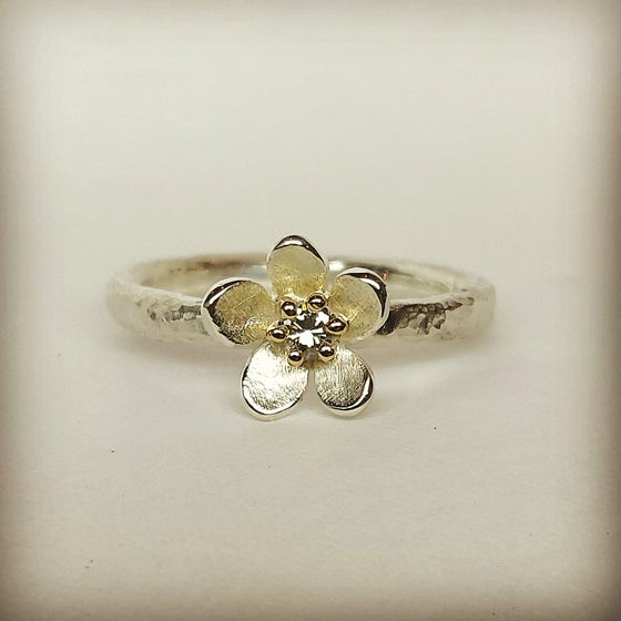 Beeld van Forget-me-not with diamond