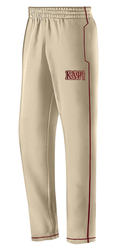 Image of TRACK PANTS (THIN STRIPE) - CREAM