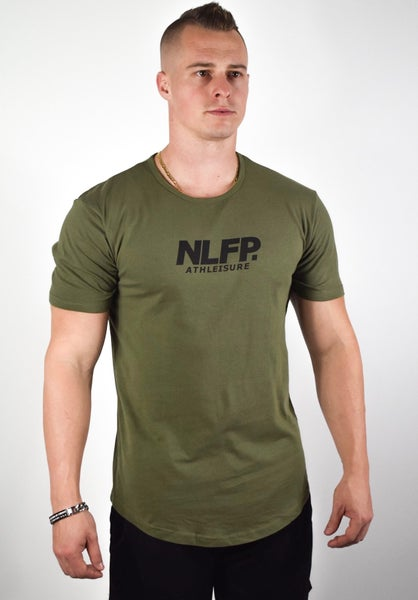 Image of ATHLEISURE SCOOP TEE MILITARILY GREEN