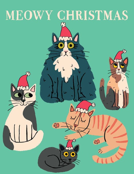 Image of Meowy Christmas Card