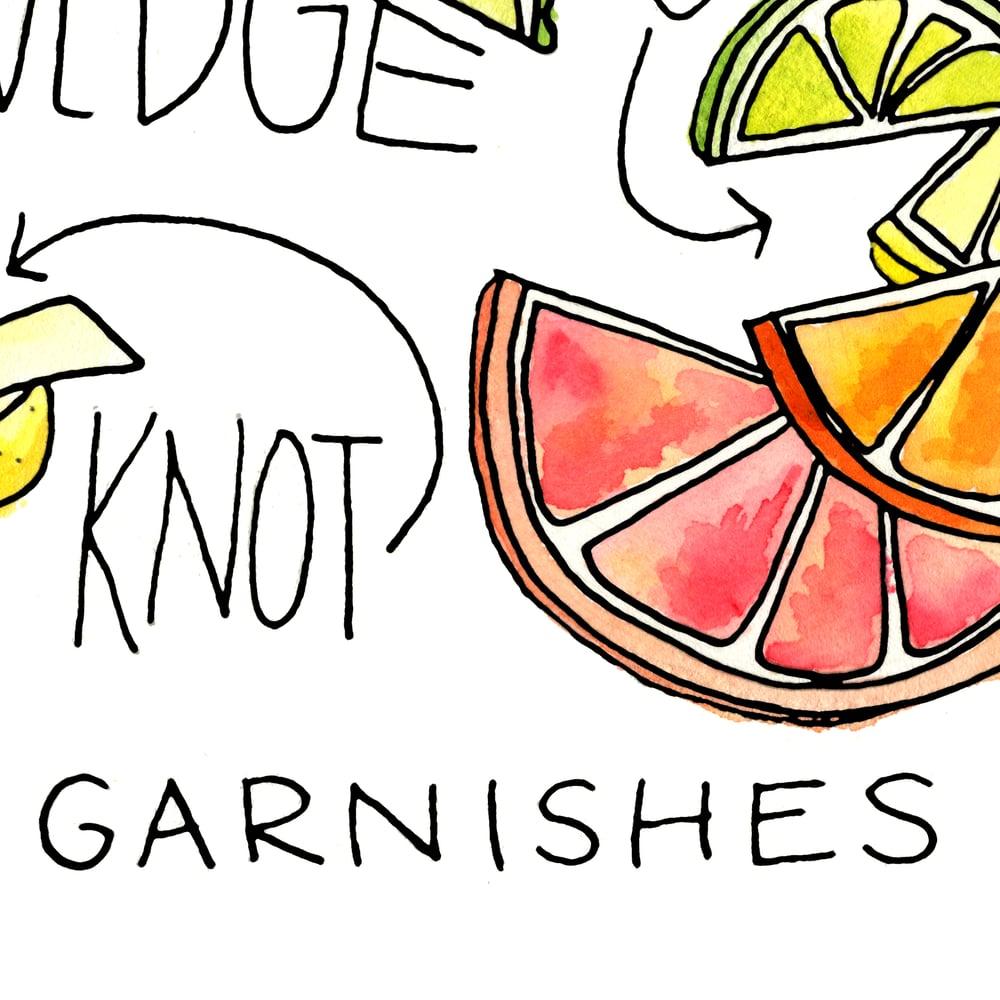 Image of Citrus Garnish Cocktail Art Print