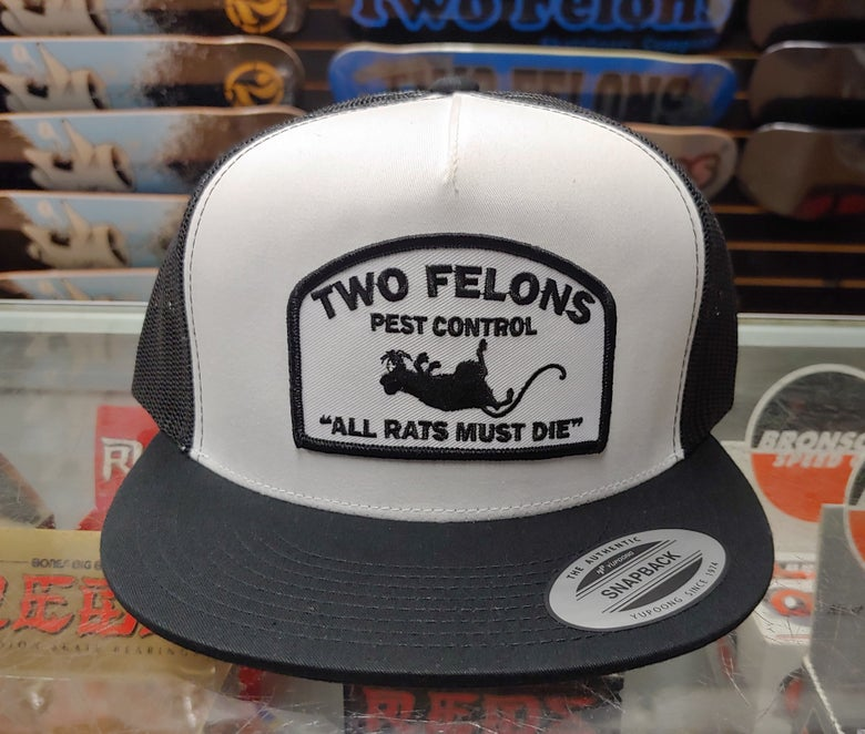 "Image of Two Felons ""Pest Control"" V1 (white/black)"