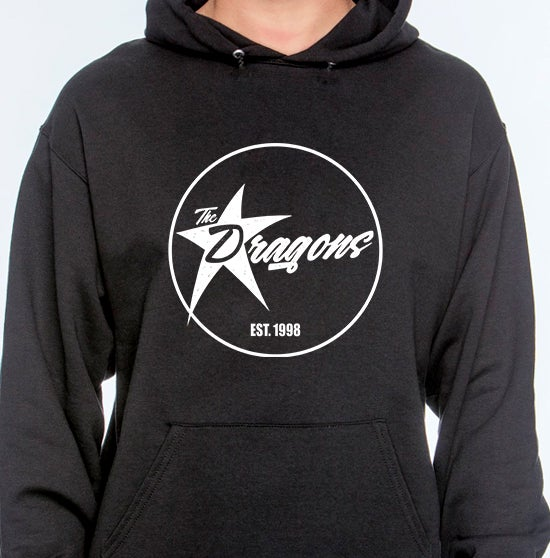 Image of The Dragons Hoodie (Black/White Print)