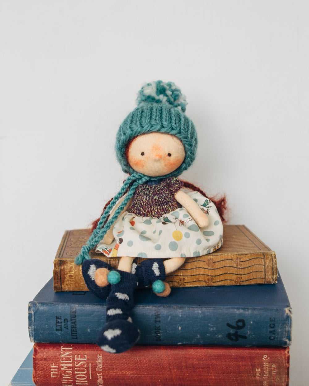 Image of Lyla - Wool filled Weighted mini waldorf inspired girl doll