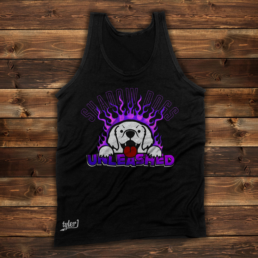 Image of Shadow Dogs Tank - Black