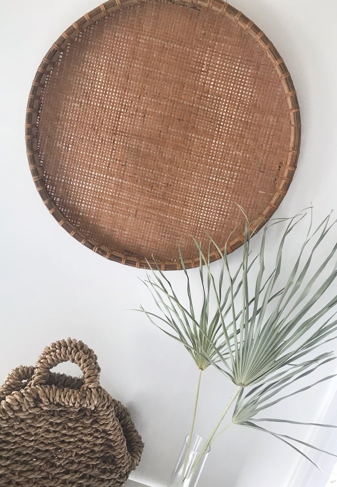 Image of Large Woven Flat Tray