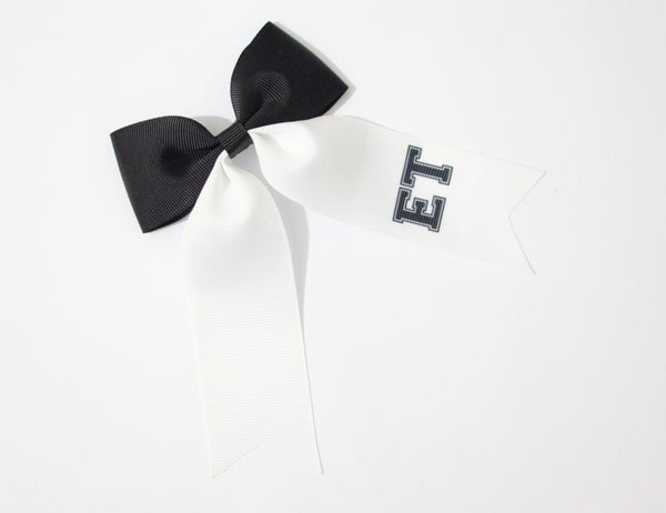 Image of 'Varsity' Personalised Large Ponytail Bow