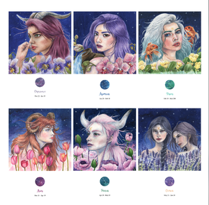 Image of Zodiac Collection - Prints | Necklaces