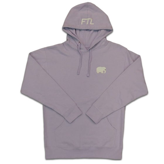Image of Elephant Embroidered Hoodie (Lavender)