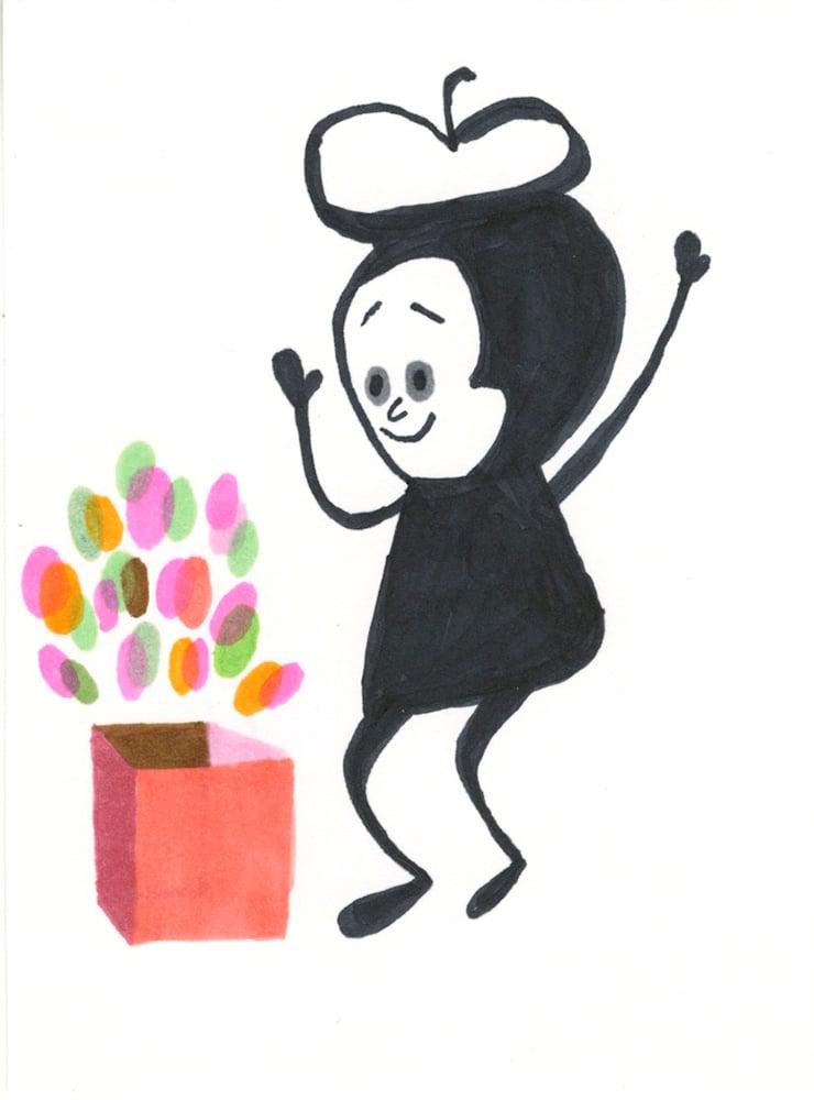 Image of Magic Box. Original drawing.