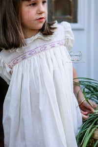 Image of Vintage elephant trim/Linen dress