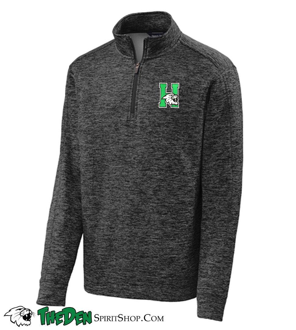 Image of Adult 1/4 Zip Fleece, Black/Grey