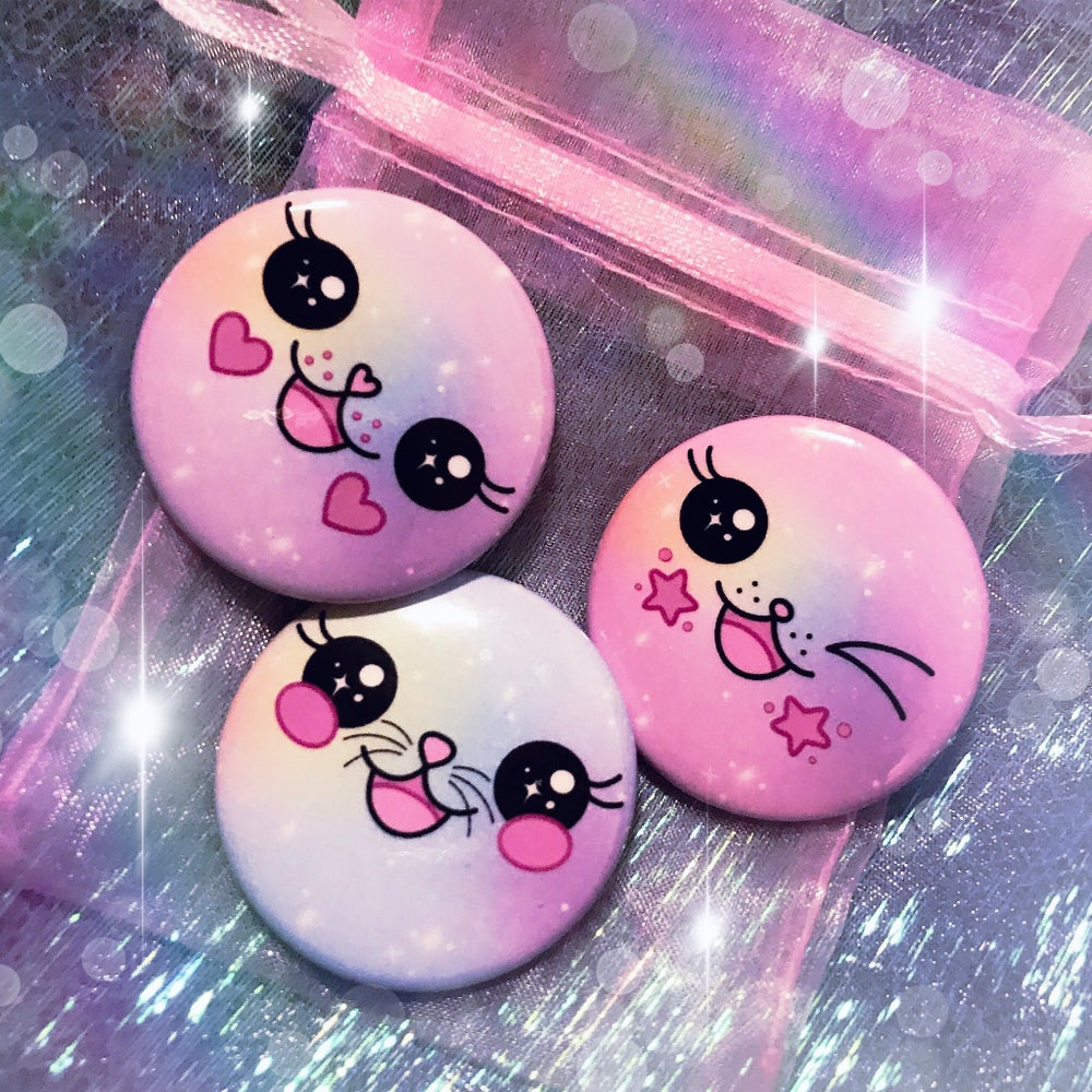 Image of Kawaii Friends Button Set