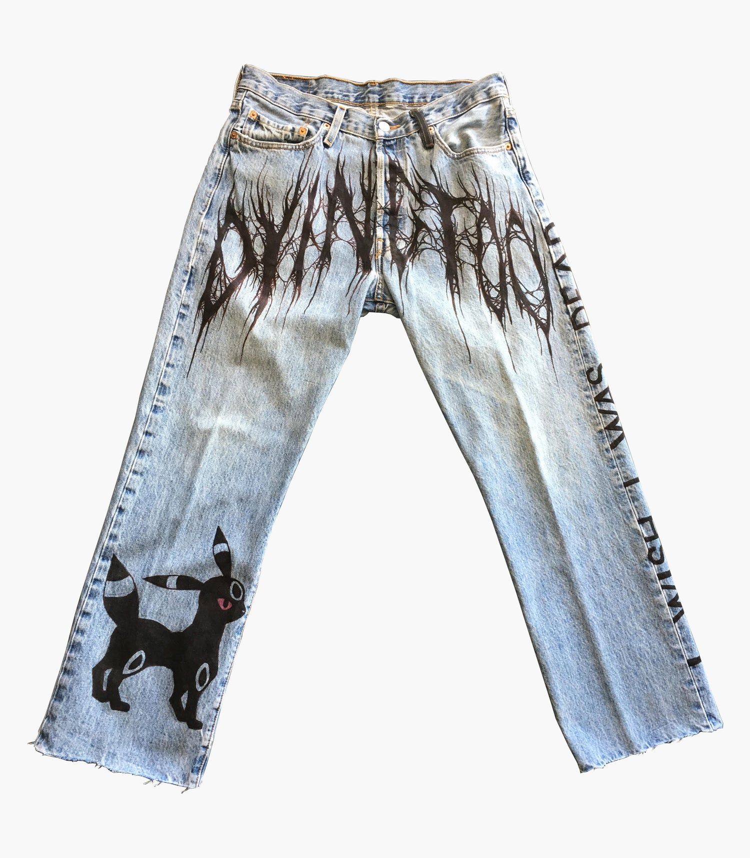 Image of 1/1 I WISH I WAS DEAD PANTS