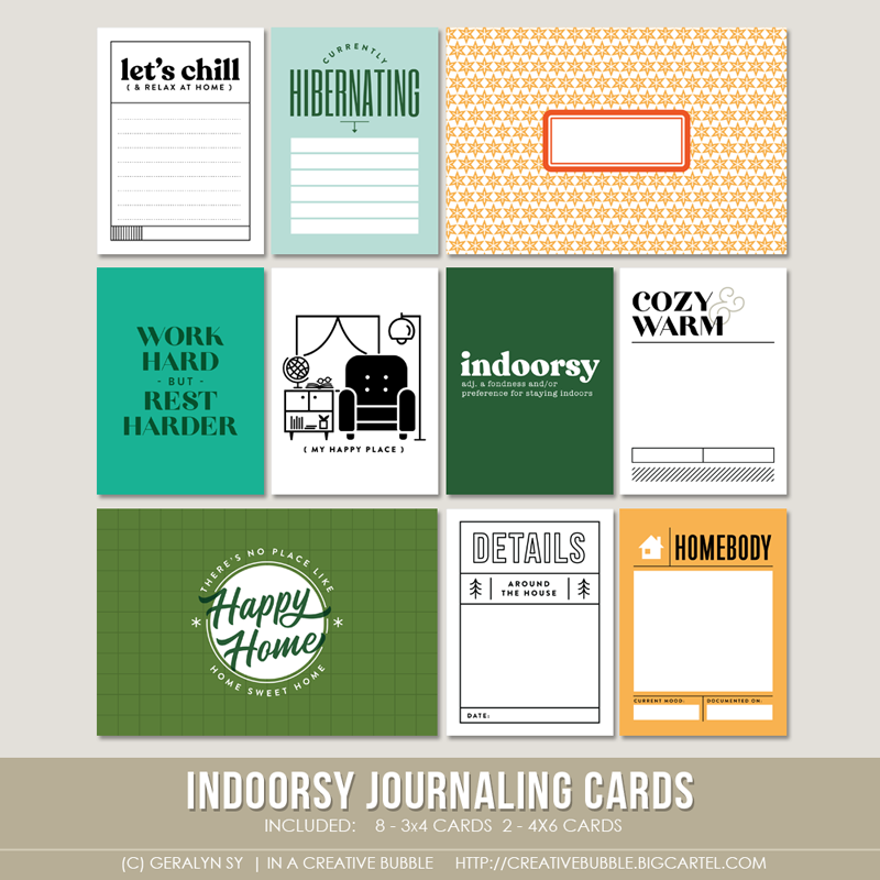 Image of Indoorsy Journaling Cards (Digital)