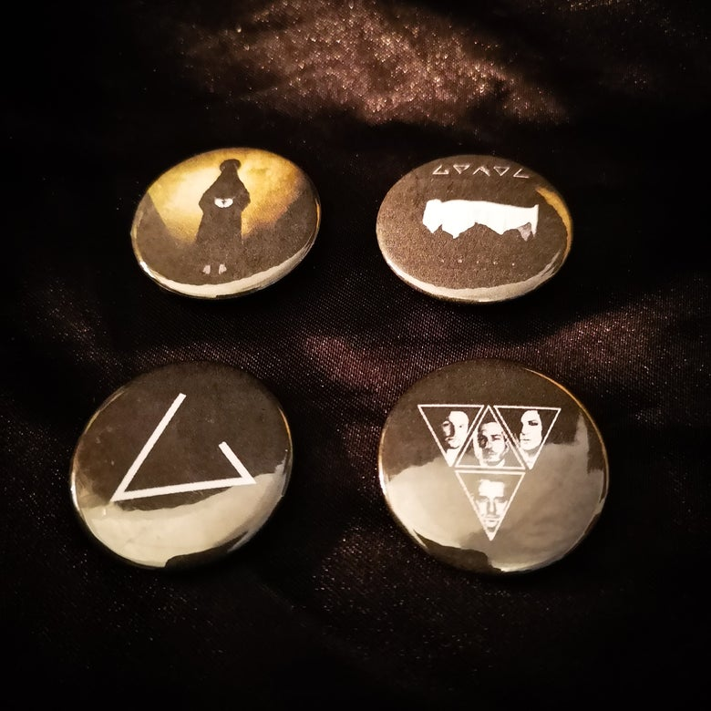 Image of Grendel button pack (4 designs)