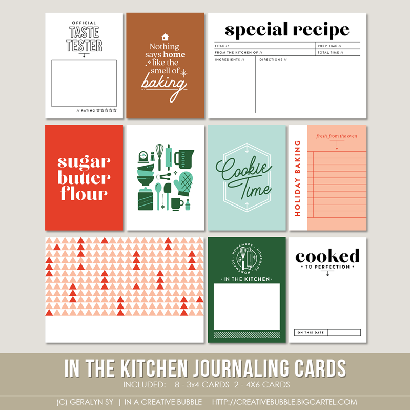 Image of In the Kitchen Journaling Cards (Digital)