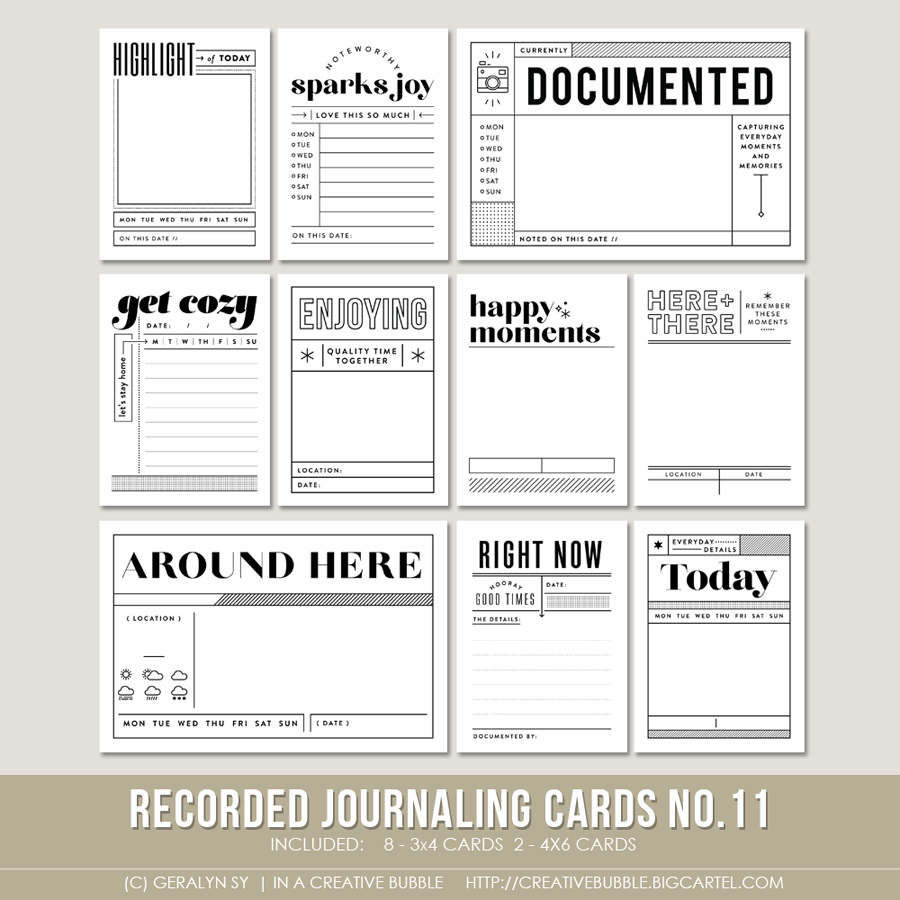 Image of Recorded Journaling Cards No.11 (Digital)