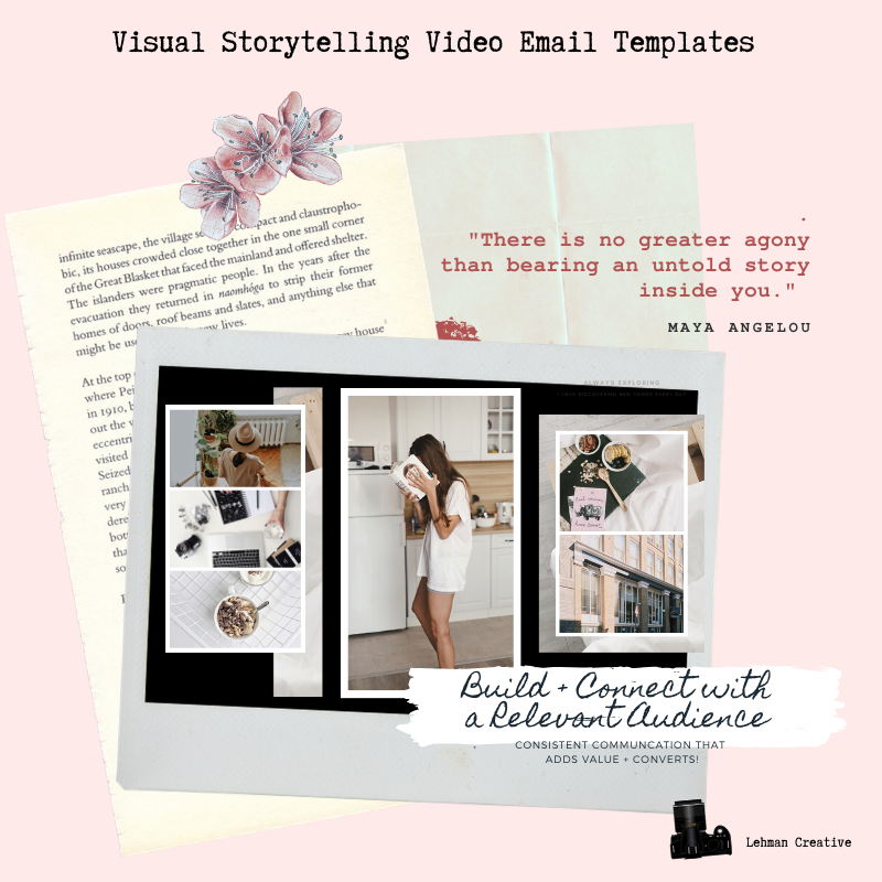 Visual Storytelling Video Email Templates (*Special nded Beginnings on