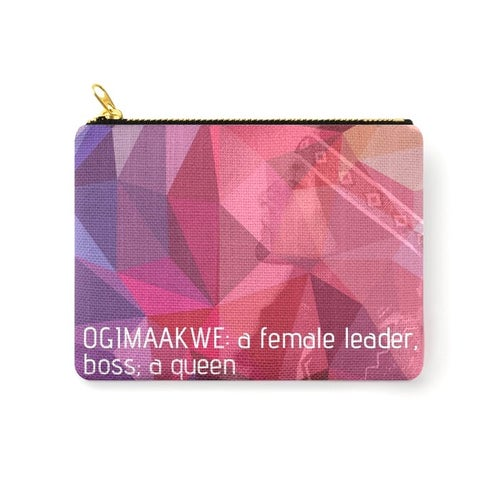 Image of Ogimaakwe Zipper Pouch (Blush)