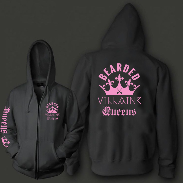 Image of QUEENS ZIP UP HOODIE