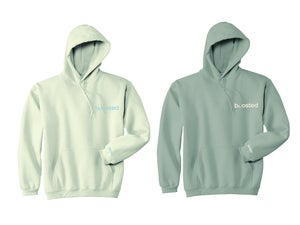 """Image of BOOSTED """"WHITE CLOUD/CITRIN"""" EMBROIDERY T-SHIRT & HOODY"""
