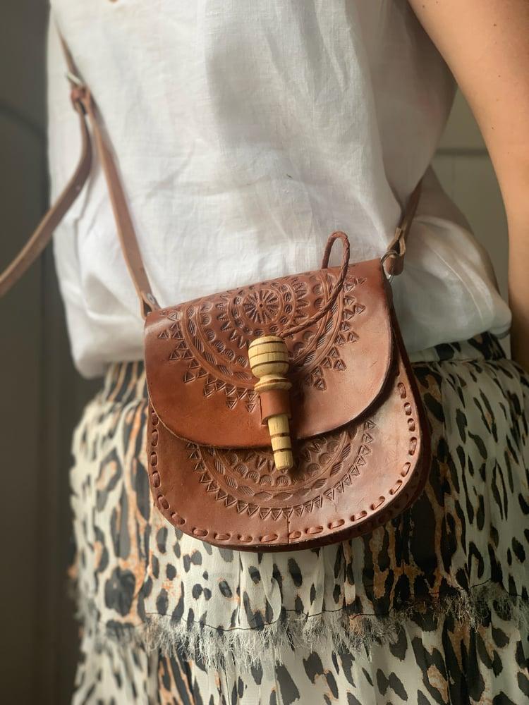 Image of Small Leather Saddle Bag