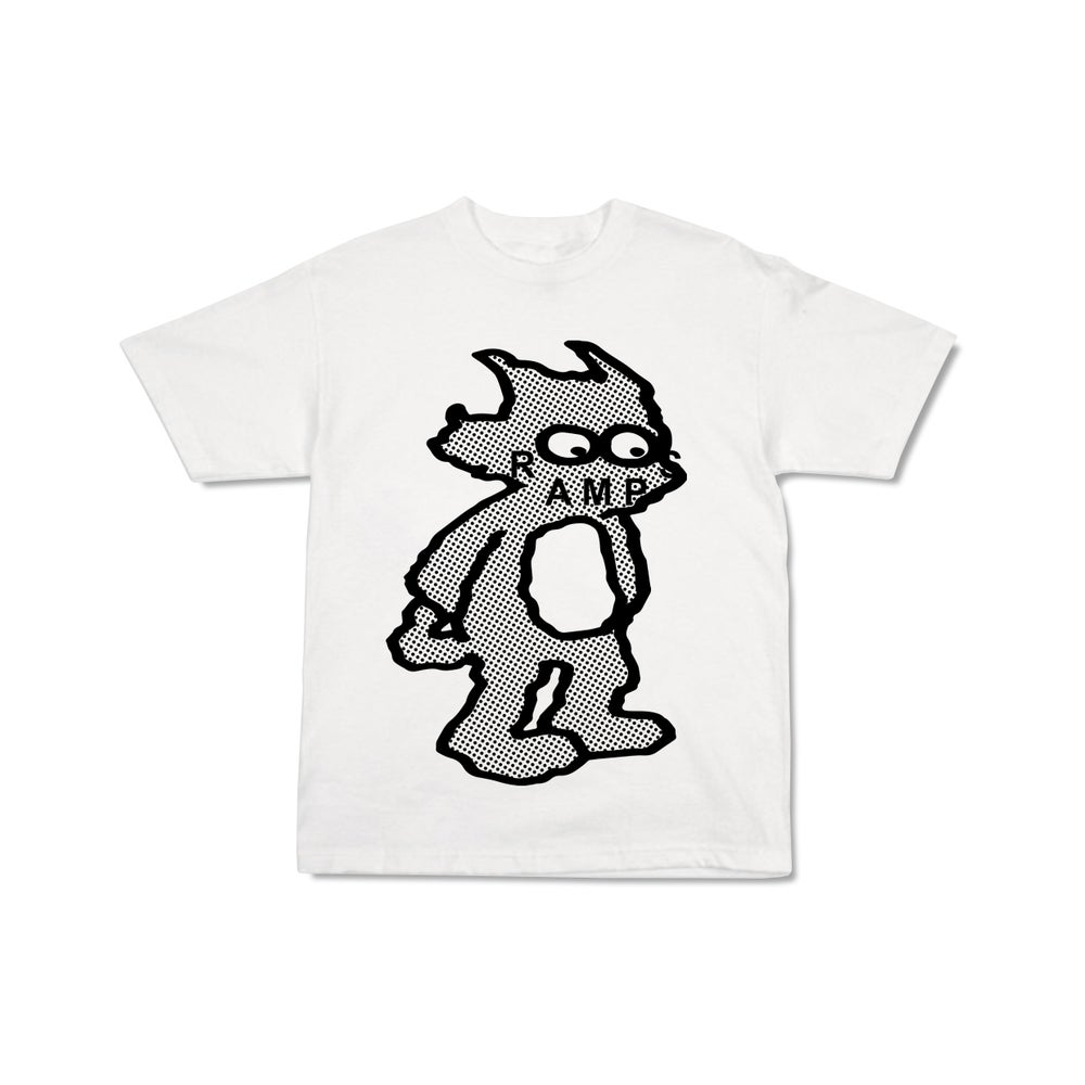 Image of SCRATCHY RAMPS T-SHIRT - WHITE