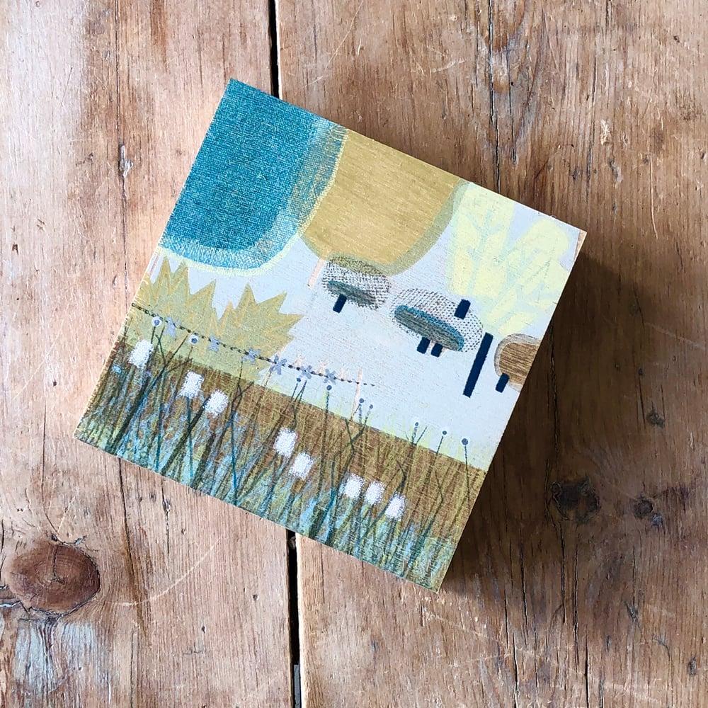 Image of Derbyshire Trees - Print Block