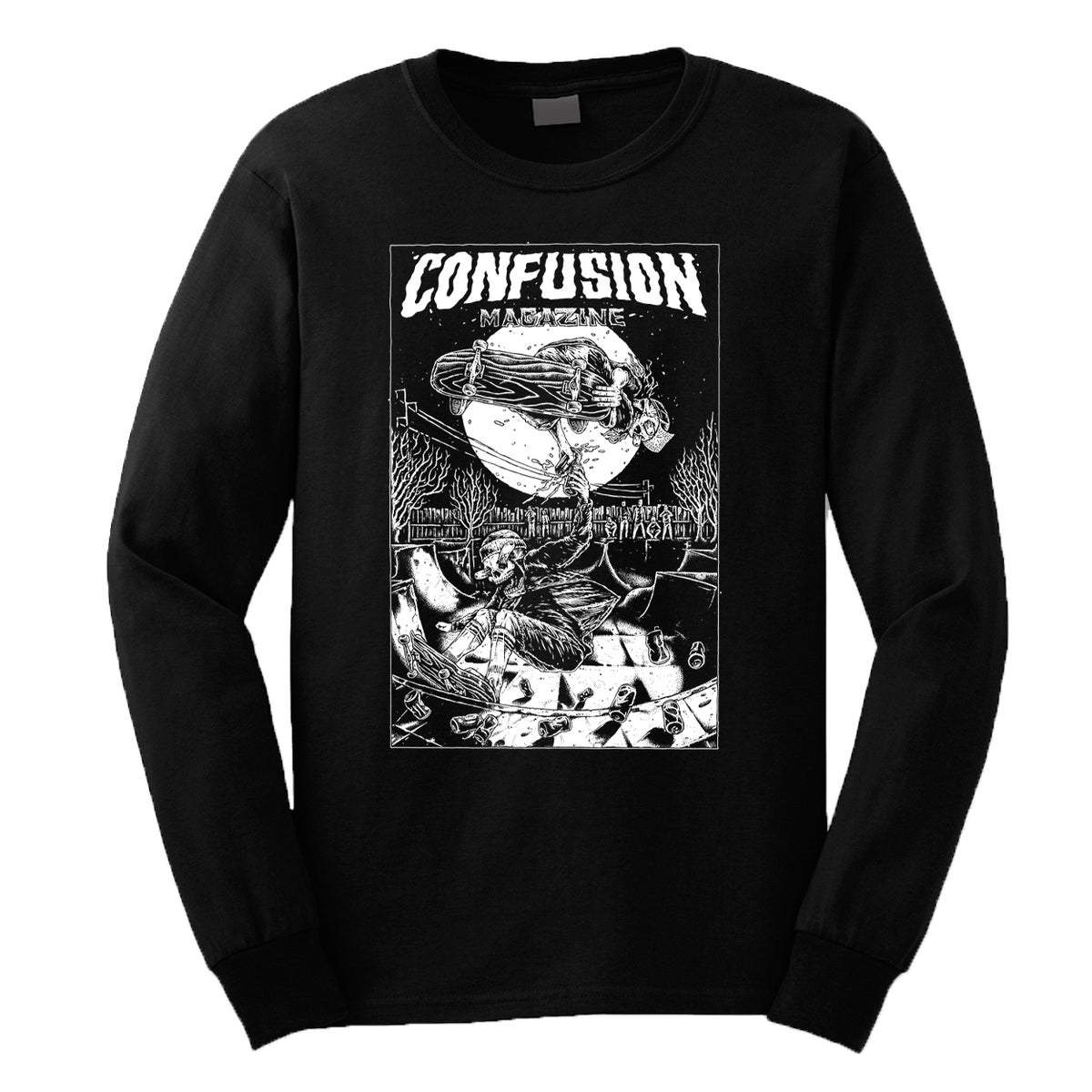 Image of Confusion - CHEERS longsleeve tee [black]