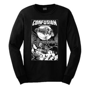Image of Confusion - CHEERS longsleeve tee [black]