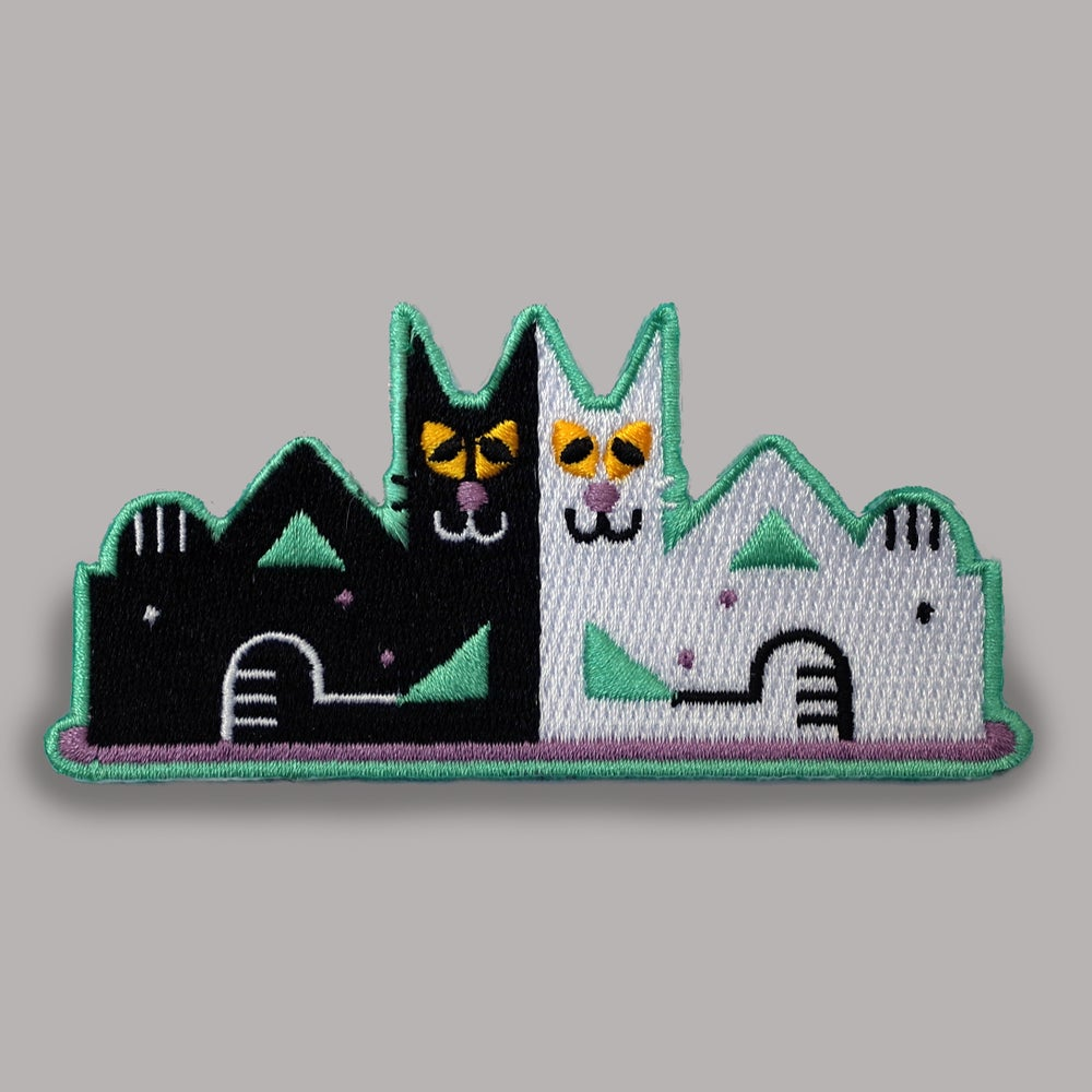Image of Solidarity Cat Friends Woven Patch