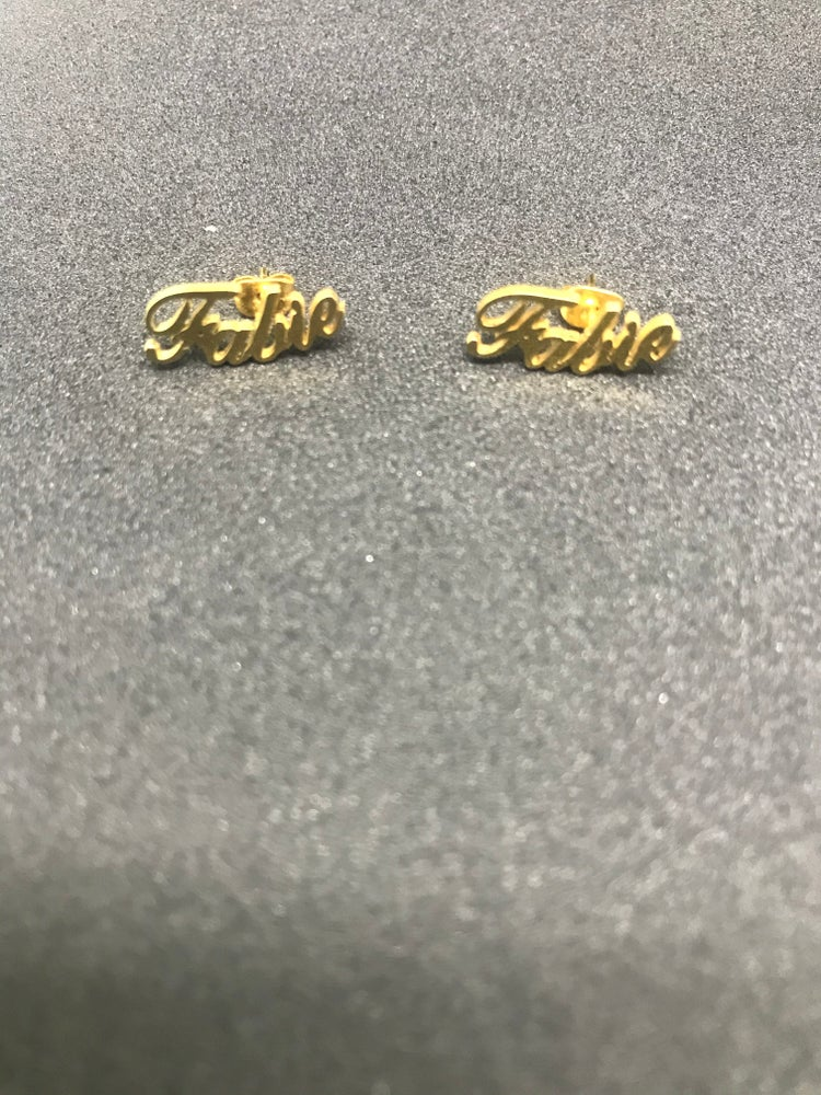 Image of Custom Name Earrings