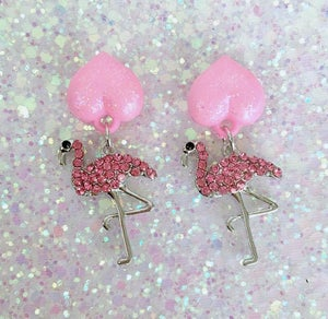 Image of 3 Colors - Flamingos Love Kisses Earrings