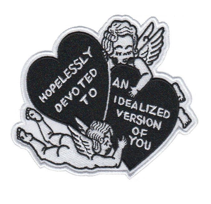 Image of Hopelessly Devoted embroidered patch