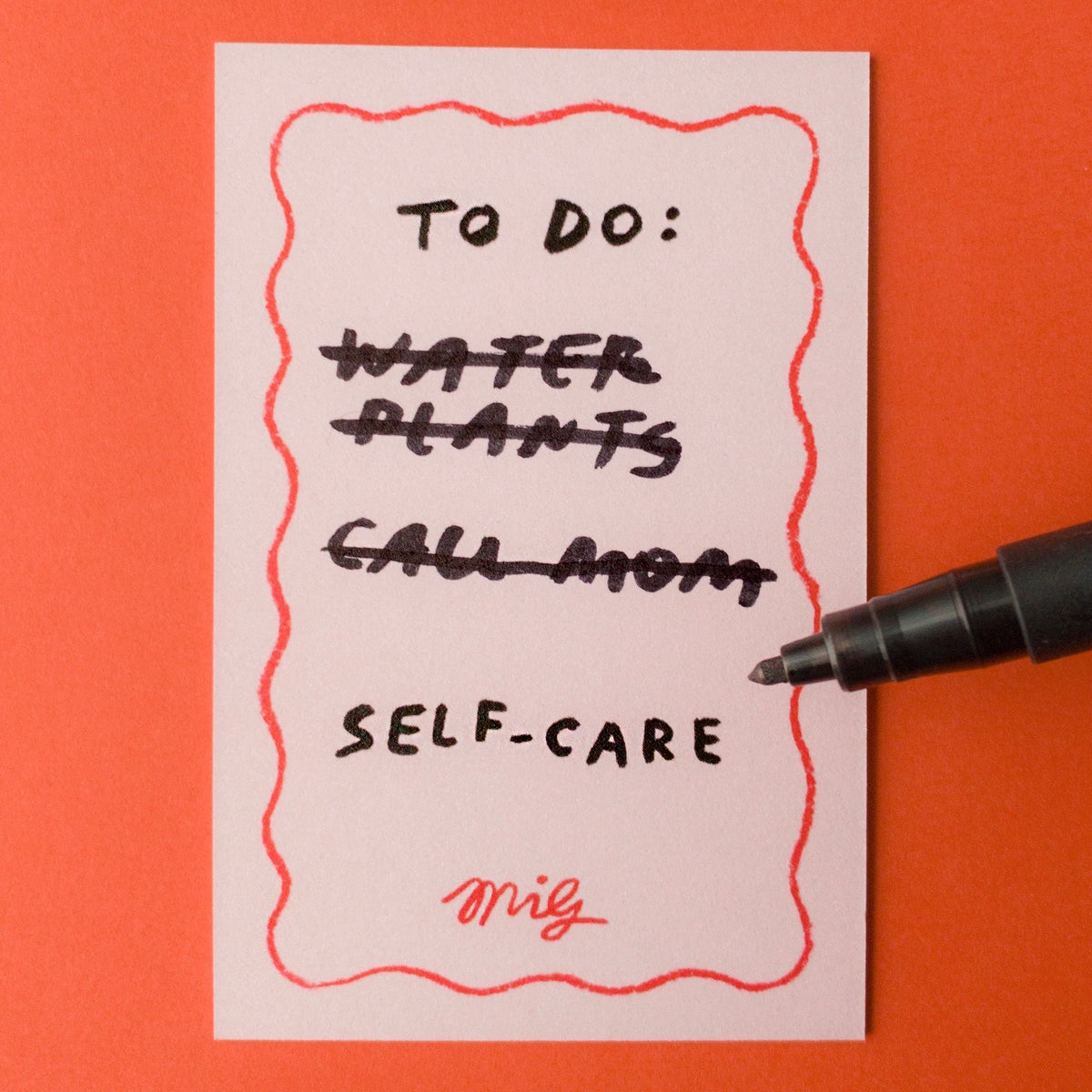 Image of SELF CARE - enamel pin badge