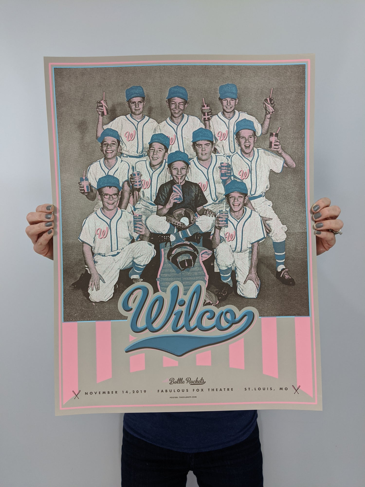 Image of Wilco, 'Team Players' poster, St. Louis, MO.