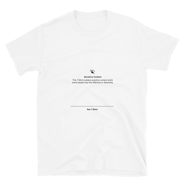 Image of Whiteout Sensitive Content T-Shirt