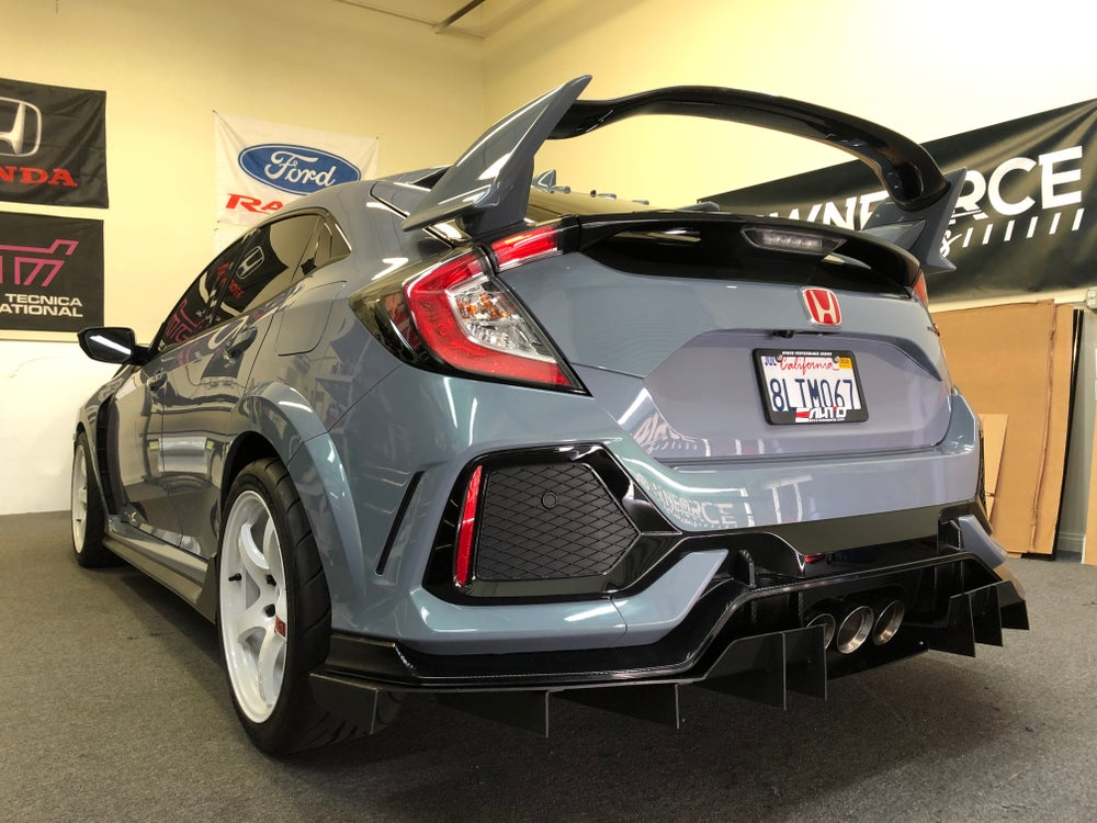 "Image of 2016+ Honda Civic Type R ""V2"" rear diffuser"