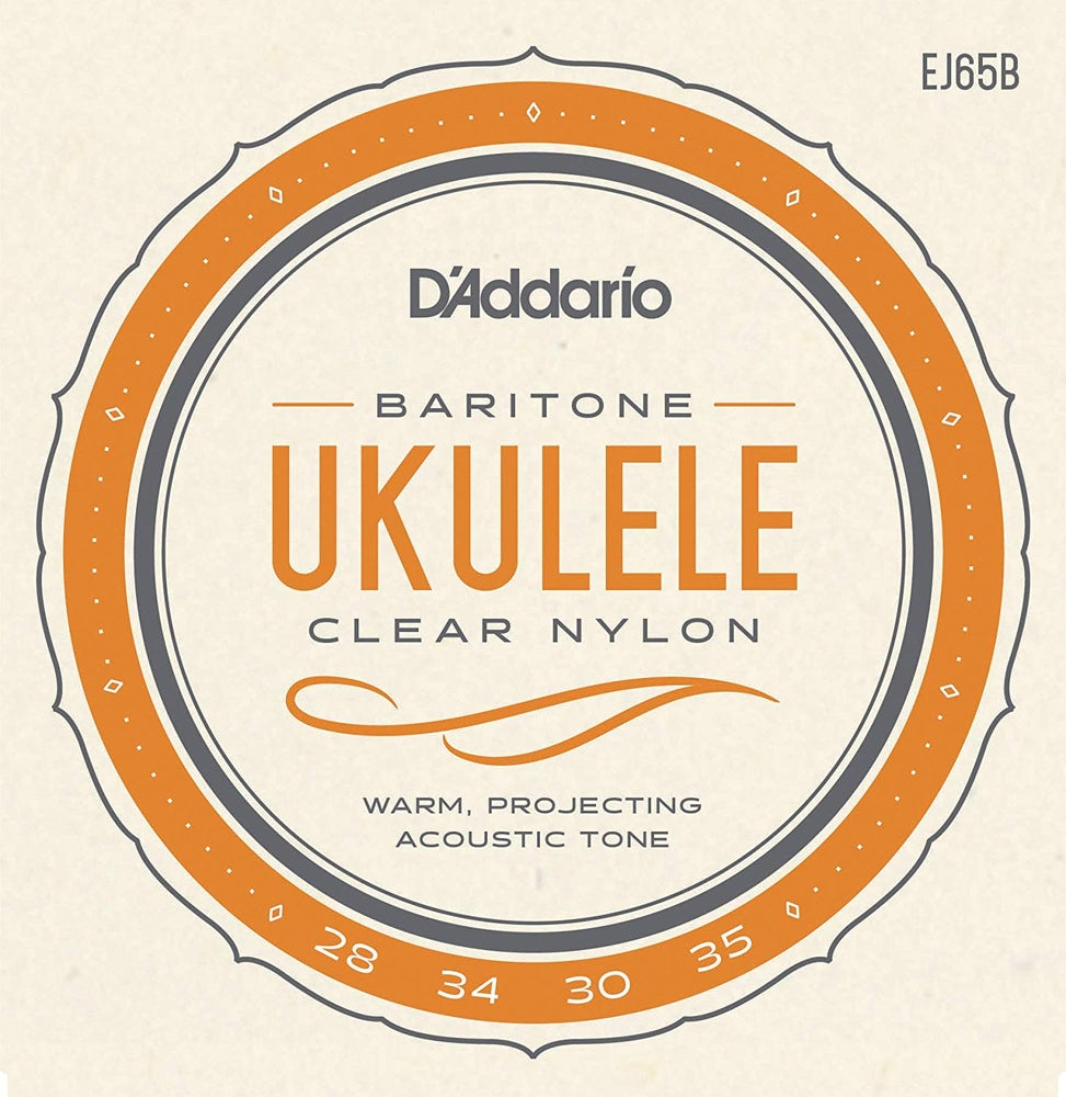 Image of Strings: D'Addario EJ65B Clear Nylon Baritone Size