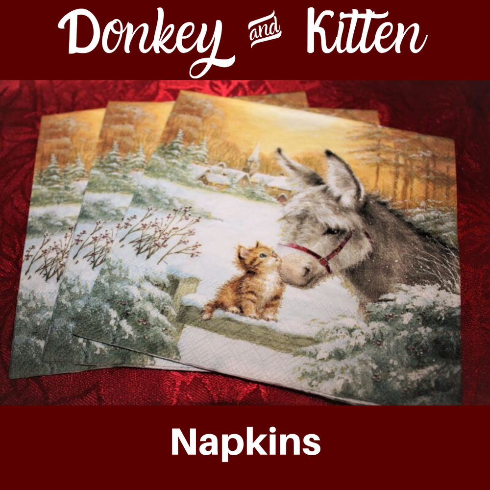 Image of Donkey & Kitten Napkins