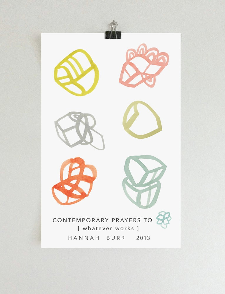 "Image of Contemporary Prayers 17 x 11"" Poster"