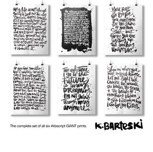 Image of #kbscript GIANT print No. 04
