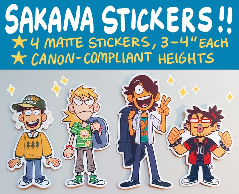 Image of SAKANA Dudes Sticker Pack