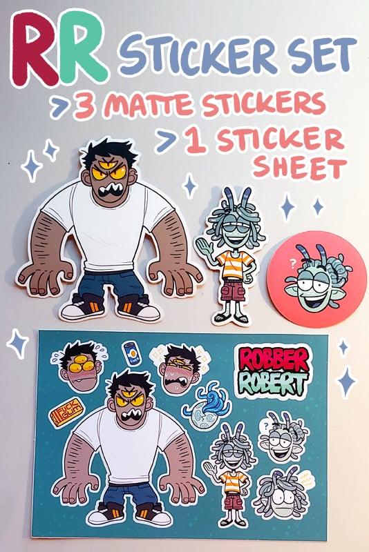 Image of ROBBER/ROBERT Sticker Pack