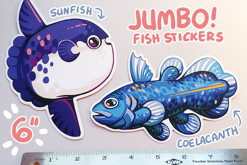 Image of JUMBO Fish Stickers