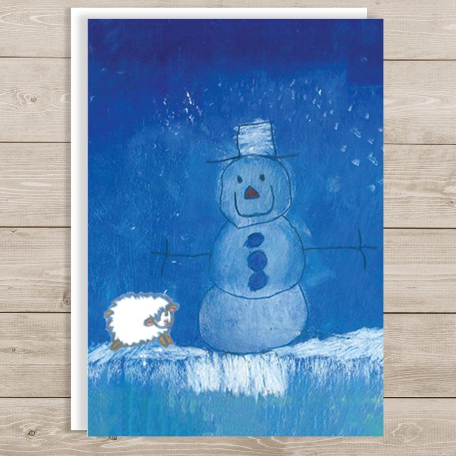 Image of Ewe Snowman - Merry Christmas