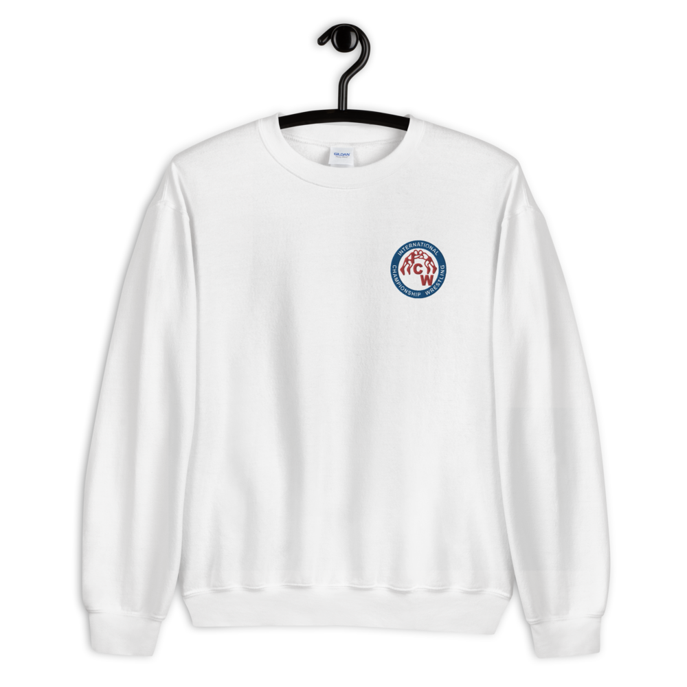 Image of ICW Patch Logo Sweatshirt (Emroidered Patch Logo Design on White or Grey)