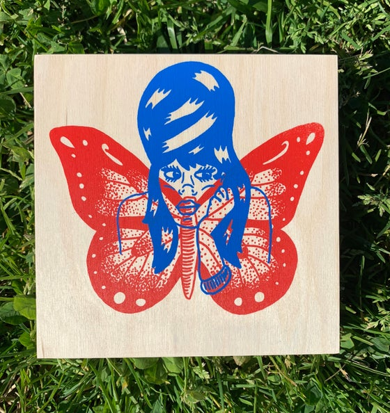 "Image of ""Fly High"" print on wood panel (1/1)"